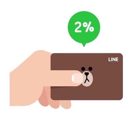 驚異の2%還元率プリカ『LINE Pay カード』のお得な申し込み方法。